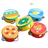 Ogquaton Baby Kind Spielzeug Cartoon Musical Tamburin Beat Instrument Handtrommel Baby Spielzeug Kostengünstig
