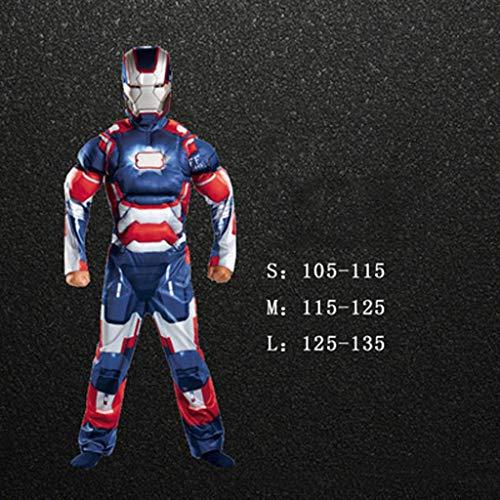 Attrezzature Fun Marvel Avengers Assemble Iron Man Costume da Bambino Classico (Tre Colori, Tre Misure) (Color : B, Size : L)