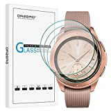 (3 Pack) Orzero for Samsung Galaxy Watch 2018 42mm (Updated Version) Smartwatch Tempered Glass Screen Protector, 2.5D Arc Edges HD Clear Film Anti-Scratch Bubble-Free (Lifetime Replacement)