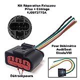 Kit Réparation Câble Faisceau de Câblage Fiche Électrique Prise de Connectique Connecteur Plug Adaptateur pour Debimetre 1J0 973 775 A 1J0973775A 1J0 973 775A A2 A3 A4 A6 A8 BEETLE BORA GOLF PASSAT