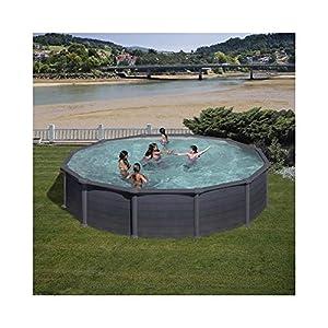 Piscina de acero redonda Gre Granada 550x132cm