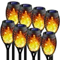 Kurifier Solar Lights Outdoor, 8Pack Solar Torch Light with Flickering Flame, Security&Waterproof/Festive&Romantic Decoration Landscape Mini Torch for Yard, Patio, Garden-Auto On/Off Lighting