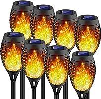 Kurifier Solar Tiki Torches with Flickering Flame, Solar Lights Outdoor Decorative, Landscape Romantic Festive Waterproof...