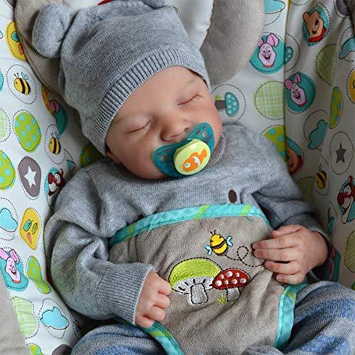 LHYAN Nouveau-né Baby garçon poupée véritablement réaliste réaliste réaliste Reborn cutané...
