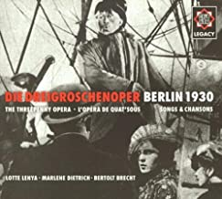 Weill: The Threepenny Opera - Berlin 1930