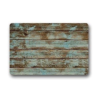 LovingIn Rustic Old Barn Wood Door Mats Indoor Bathroom Kitchen Decor Rug Mat Welcome Doormat 23.6x15.7inch