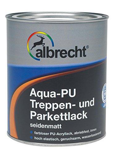 Lackfabrik J. Albrecht GmbH & Co. KG 3400606300000002500 Aqua-PU Treppen- u. Parkettlack seidenmatt farblos 2.5l