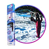 WOWMAZING Winter Edition Giant Bubble Kit: Winter Outdoor Activity Toy for Kids, Girls, Toddlers, Family | Bubbles Made in The USA