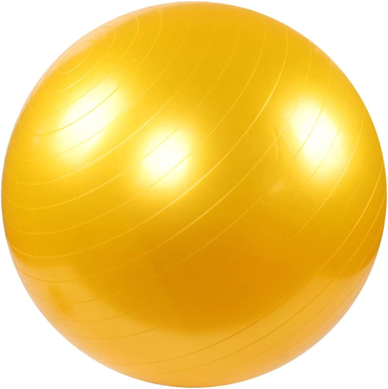Yoga Ball Thickened Anti-Burst Anti-Slip Exercise Ball Beginner Balance Workout Fitness 55cm 65cm 75cm Red Green Yellow