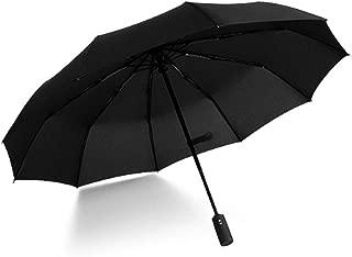 Umbrella automatic Folding travel Umbrella Unisex Windproof Umbrella (Black)