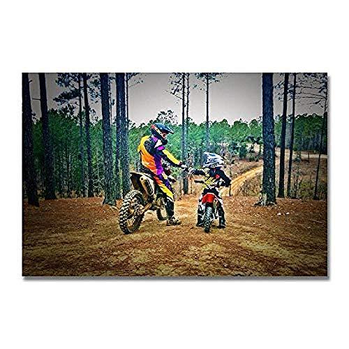 Puzzles Madera Rompecabezas De Madera De 1500 Piezas Patrón De Motocross Decoraciones Familiares Regalo De Cumpleaños Único Adecuado para Adolescentes Y Adultos