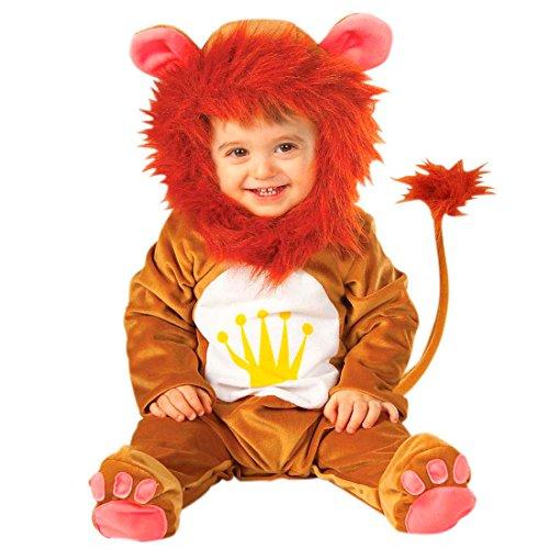 NET TOYS Bébé Lion déguisement Costume déguisement de Lion Brun 90 cm Lions déguisement bébé Lion Simba Costume d'animal déguisement de bébé