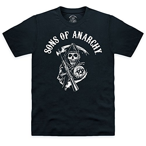 Official Sons of Anarchy - Classic Logo Organic T-shirt, Uomo, Nero, M