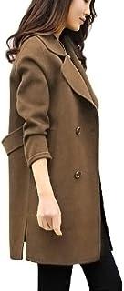 Women Winter Jacket Coat, Ladies Solid Long Sleeve Button Autumn Winter Overcoat Cardigan Outwear