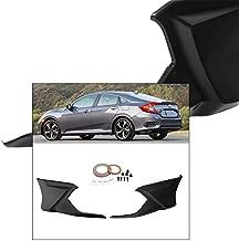 For Civic FC1 4 Door Sedan 2016-2017 Rear Spoiler Lip Aero Kit Modulo Style Trim