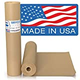 Brown Kraft Paper Roll - 18' x 1,200' (100') Made in The USA - Ideal for Packing, Moving, Gift Wrapping, Postal, Shipping, Parcel, Wall Art, Crafts, Bulletin Boards, Floor Covering, Table Runner