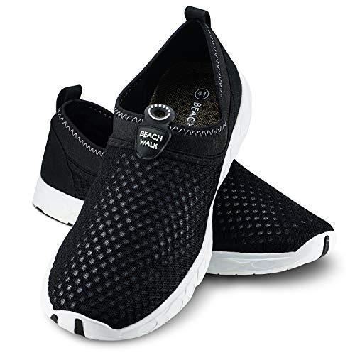 Ultrapower Zapatos de baño | Señoras | Hombres | Suela perfilada | Neopreno | Resistente a los Rayos UV | Cordones | Negro/Blanco | Tamaño 41