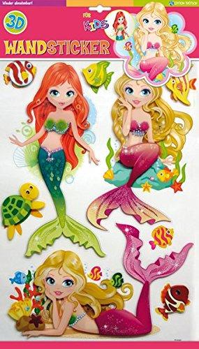 Trötsch Wandsticker Meerjungfrauen