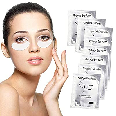Under Eye Gel Pads Sunallwell 100 Pairs Under Eye Patches Isolation Eyelash Extension Pads Lint Free Beauty Mask Tool Makeup for Pro Salon and Individual