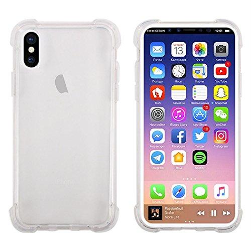 wortek hoes voor iPhone XS/iPhone X TPU silicone case [schokbestendig] stootvaste bumper transparant telefoonhoes cover ultra helder