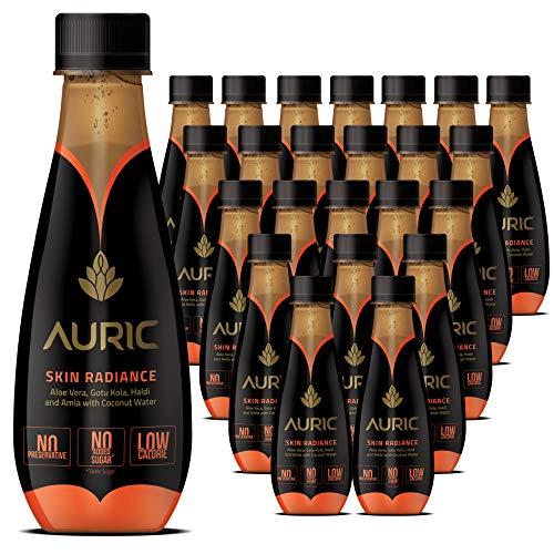 Auric Skin Radiance All Natural Ayurvedic Beverage for Glowing Skin, Ready to Drink Juice (Pack of 24, 250ML Each)…