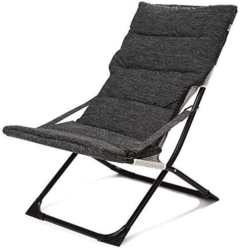 JIADUOBAO Taburete plegable con postes, resistente, resistente, ajustable, reclinable, plegable, para exterior, interior, jardín, piscina (color negro)