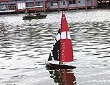 Barco de Vela RC de 53,74 Pulgadas, Barco de Control Remoto sin Motor, súper Enorme, 2,4G 4 Canales, Modelo de Vela premontado para niños Adultos Mayores de 14 años