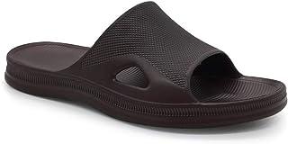 FUNKYMONKEY Mens Bathroom Shower Slippers Indoor Home Beach Non Slip Sandal