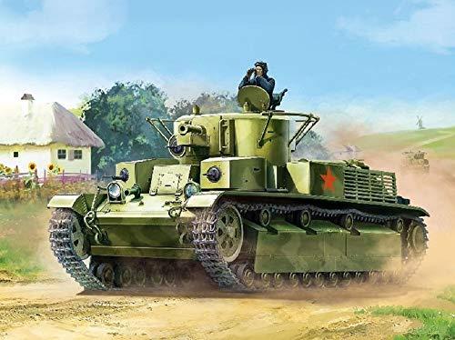 Zvezda - Kit modelo 6247 tanque mediano soviético T-28 mod.1936/1940 escala 1/100