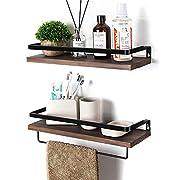 #LightningDeal SODUKU Floating Shelves Wall Mounted Storage Shelves for Kitchen, Bathroom,Set of 2