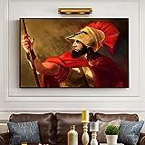 YuanMinglu Resumen Griego Antiguo Soldado Retrato Lienzo Pintura Imagen póster y Artista de Grabado decoración del hogar Sala Mural Pintura sin Marco 30x45cm
