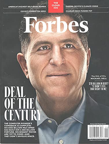 Forbes Magazine (August/September, 2021) Deal of the Century Michael Dell Cover