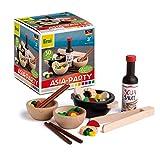 Erzi 28181 Sortierung Wok-Party aus Holz, Kaufladenartikel für Kinder, Rollenspiele