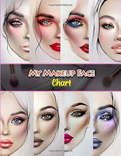 My Makeup Face Charts: Professional Makeup Artist Practice Pad