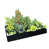Delectable tela de jardín de tela elevada contenedora cama de jardín con estructura de soporte para verduras, flores, hierbas, ecológico, hecho con material 100% reciclado, 2 pies x 4 pies x 1 pies.