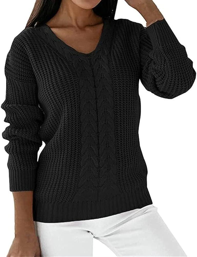 Women Loose Sweater Winter Knitted Sweater Female Simple