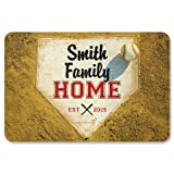 Lillian Vernon Home Plate Personalized Doormat - 18 by 27 Inch Baseball Floormat