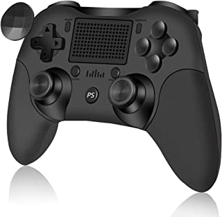 Wireless Controller for Playstation 4/Pro/Slim/PC RegeMoudal Wireless Gamepad HD Dual Vibration and Turbo Fire Function Bl...