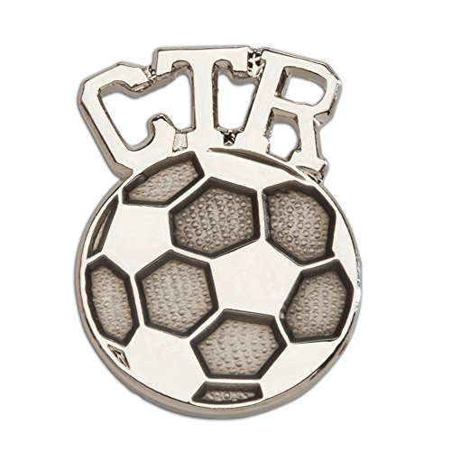 Cherished Moments CTR Tie Tack (Soccer) in Silver Tone