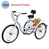 Best Adult Tricycles - Yonntech 26inch 7 Speed Adult Tricycle Aluminum Frame Review