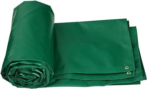 GLJ épaissie étanche à La Pluie Imperméable à l'eau Solaire Auvent Bache Camion Voiture Bache Auvent Tissu bache (Couleur   vert, Taille   5  4m)