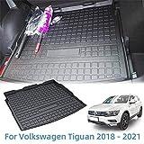 Vesul Rear Trunk Cover Waterproof Cargo Liner Floor Mat Fit for VW Volkswagen Tiguan 2018 2019 2020 2021 Mat Tray Odorless TPO Cargo Carpet