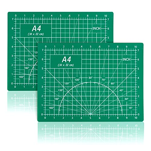 Self Healing Mat 9x12 Cutting Mats 2 Pack Double Side 5-Ply PVC Non-Slip Cutting Pad