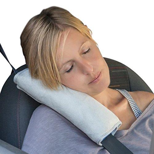 GERCAR Autokissen für Sicherheitsgut/Gutkissen – 28 x 11 x 8 cm – Schlafkissen Nackenstütze Autositz Kopfkissen für Kinder und Erwachsene Schulterploster Gurtpolster (1x Autokissengurt)