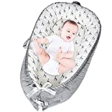 Baby Lounger, Baby Nest for Co Sleeping, Portable Baby Bassinet, Ultra Soft and Breathable Newborn Lounger Nest for Crib Napping and Traveling, Gift for Baby - Giraffe