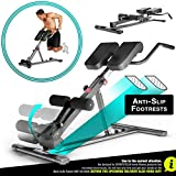 Sportstech Health&Fit in 2019-6in1 Back & Ab Trainer incl. Dip Bar for home use, ergonomically height...