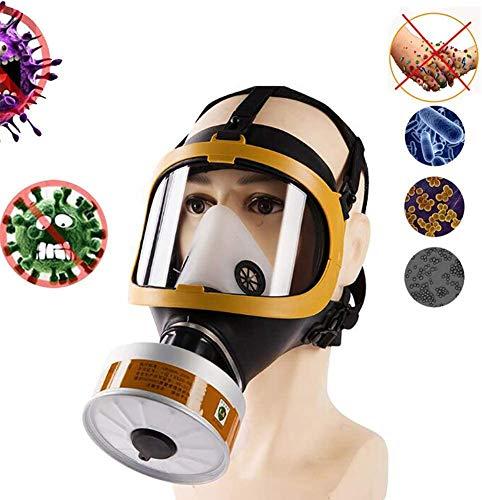 La Cara Llena Respirator- Máscara De Filtro Doble Aire Sombrero De Protección, Antipolvo Máscara Del Respirador Grado Industrial Para Vapor Orgánico Polvo De Pintura