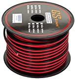 GS Power 18 Gauge 200' Red /200' Black (400 feet Total) Bonded Zip Cord Speaker Cable for Model Train Car Audio Radio Amplifier Remote 12V Automotive Trailer Harness LED Light Wiring