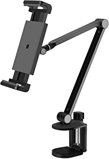 WINOK Tablet Stand for Bed, Gooseneck Tablet Holder Mount, Rotate 360 Degrees of Flexible, Height and Angle Adjustable, Hi...