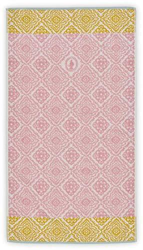 Pip Studio Jacquard Check - Toalla de ducha (70 x 140 cm), diseño de cuadros, color rosa 🔥